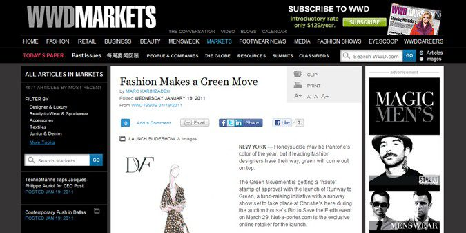 Fashion Make a Green Move