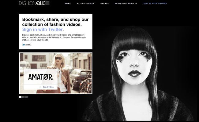 FASHIONQLIC shoppable video