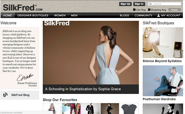 SilkFred emerging fashion retail platform